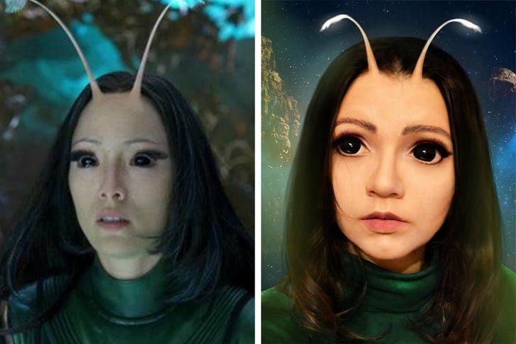 منتیس در فیلم Guardians of the Galaxy