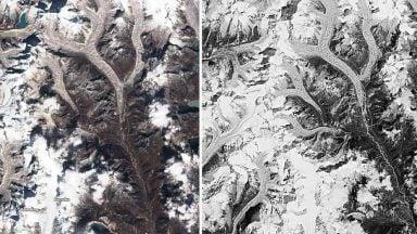 روند ذوب یخچالهای هیمالیا