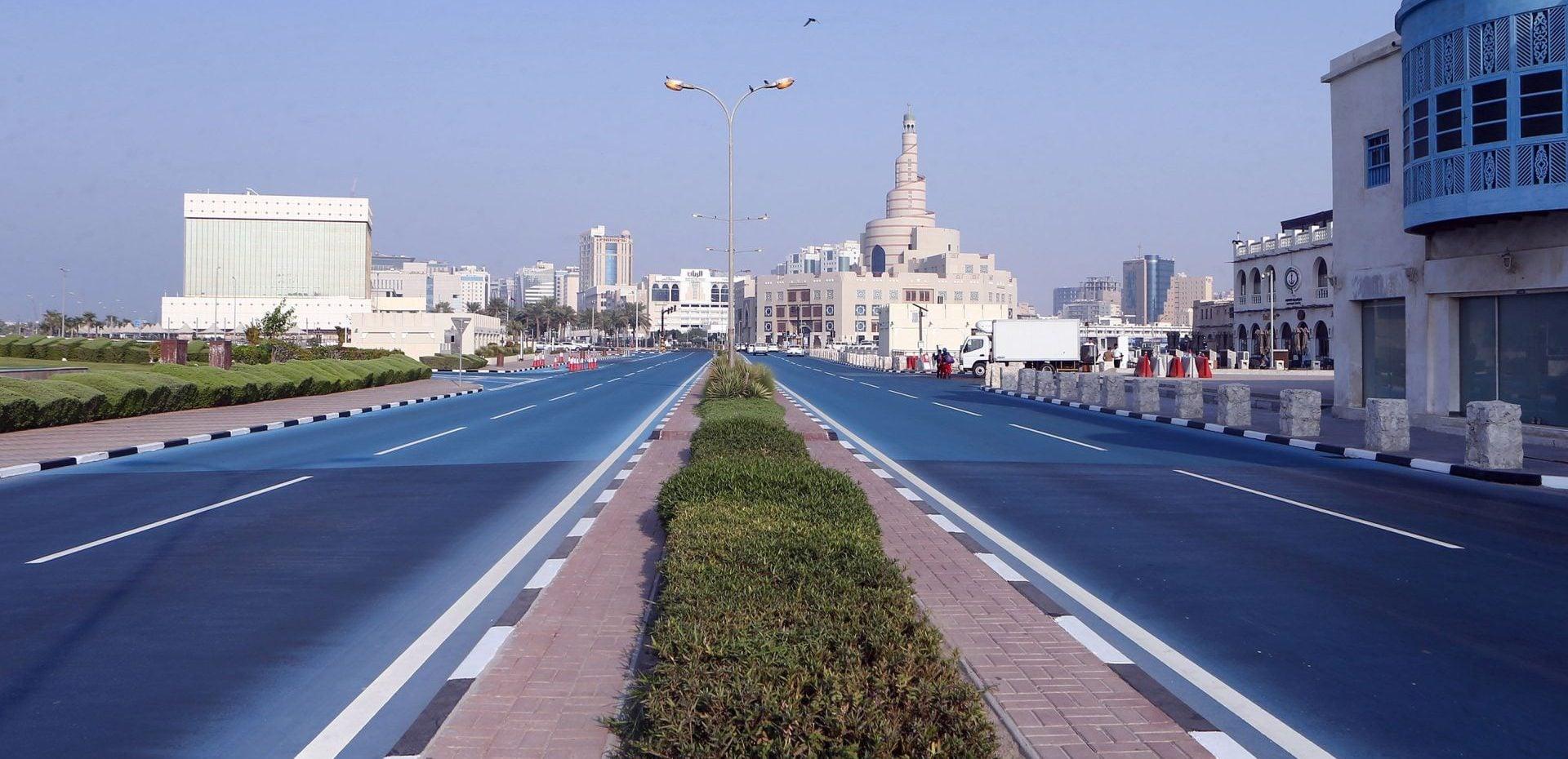 آسفالت آبی قطر