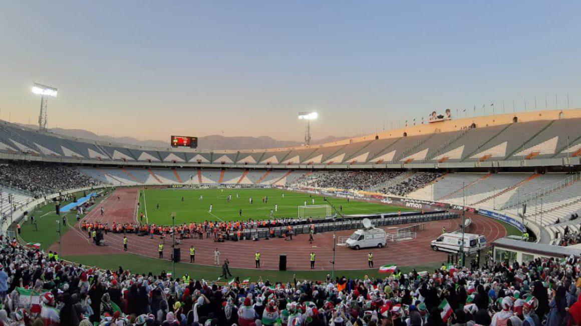 اولین حضور زنان در ورزشگاه صد هزار نفری آزادی