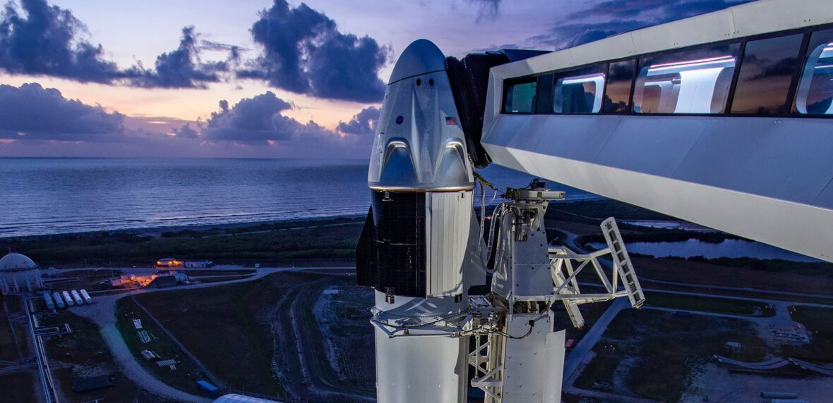 پرتاپ 2 فضانورد ناسا با کپسول دراگون شرکت SpaceX