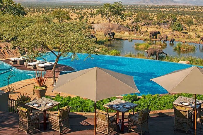 استخر هتل Four Seasons Safari Lodge
