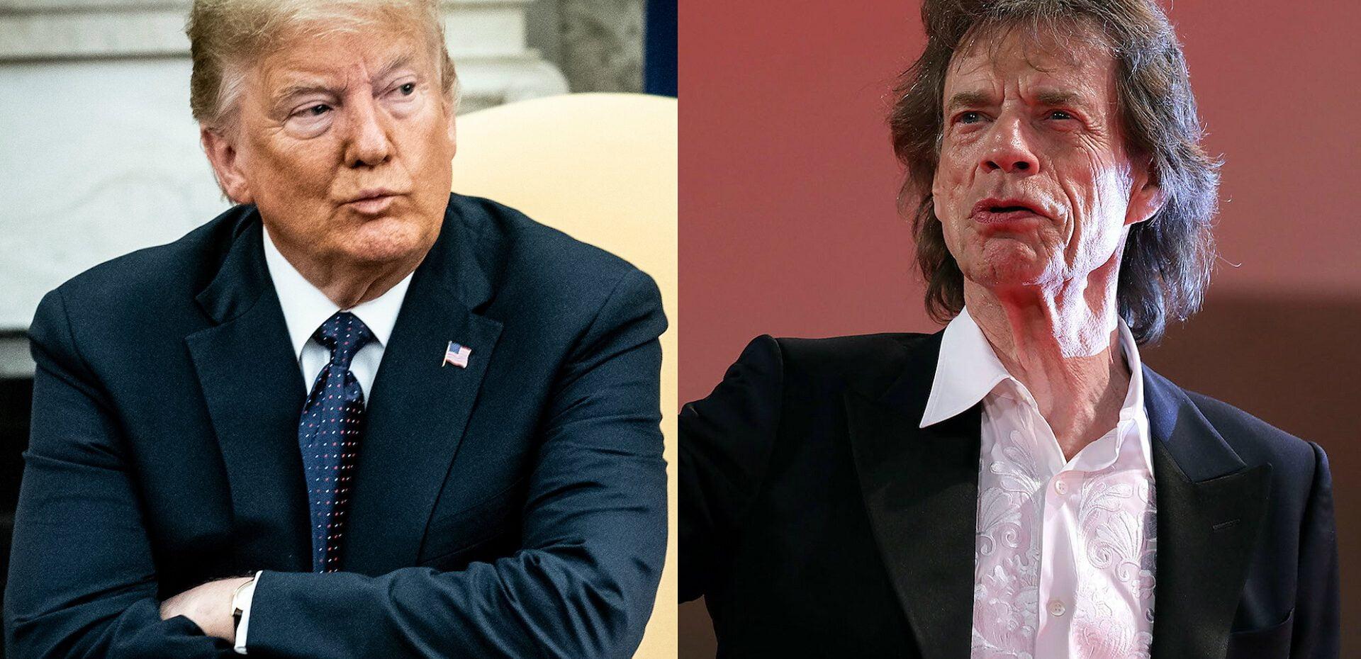 هشدار رولینگ استونز به ترامپ