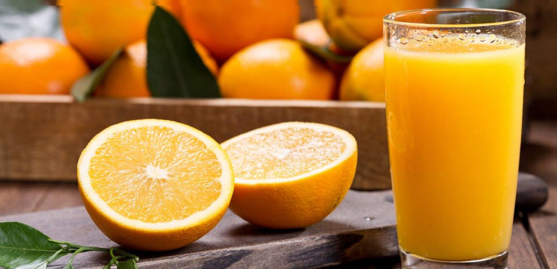 مصرف روزانه آب پرتقال