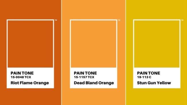 ناراحت کنندهترین رنگهای پنتون در سال 2020