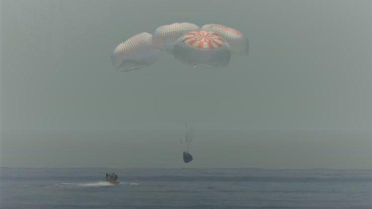 اتمام ماموریت تاریخی ناسا با فرود موفقیت آمیز کپسول دراگون شرکت SpaceX