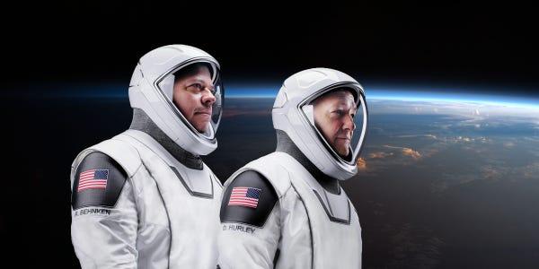 اتمام ماموریت تاریخی ناسا - فضانوردان ناسا «باب بهنکن» (Bob Behnken) و «داگ هورلی» (Doug Hurley)