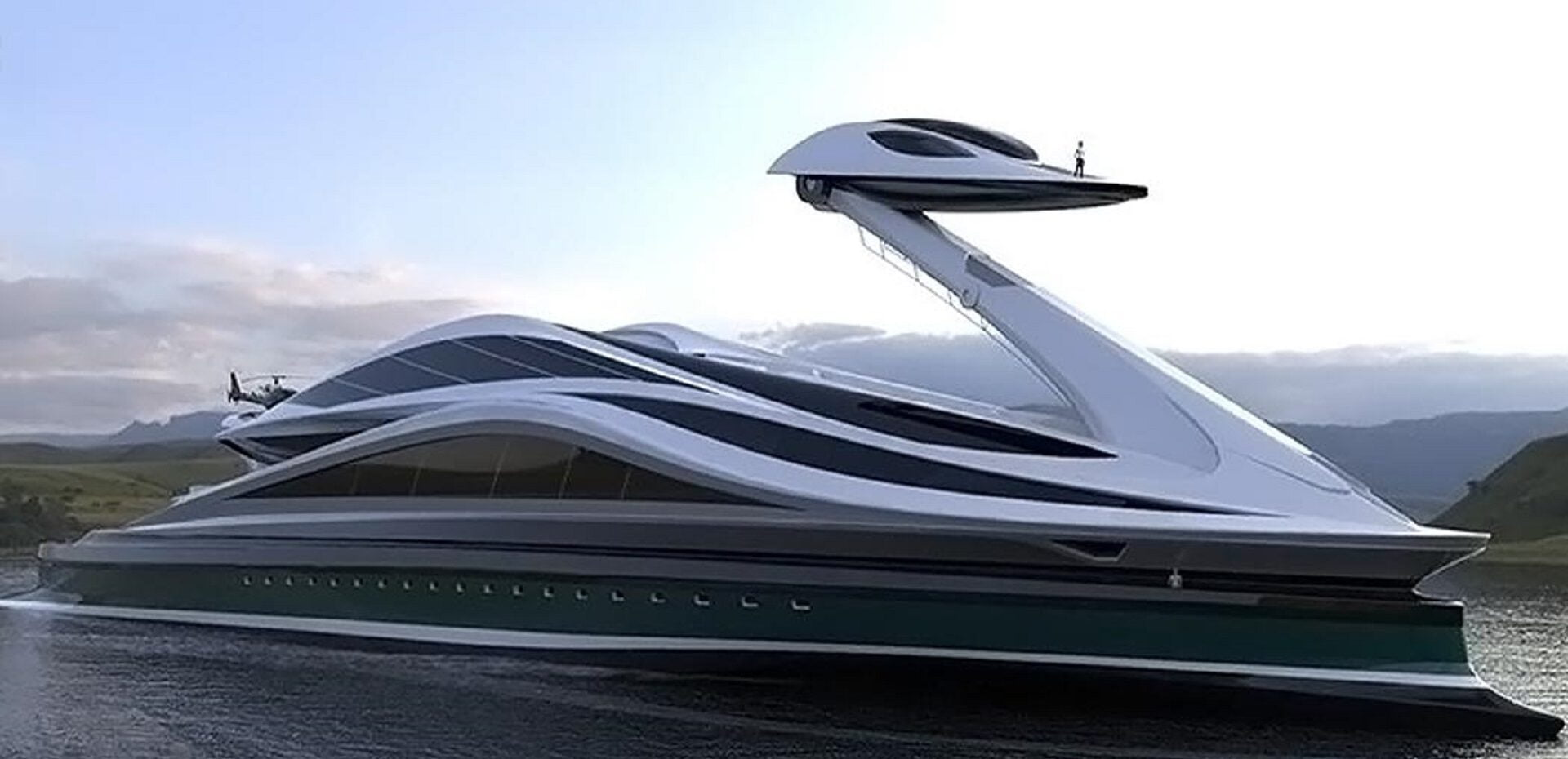 قایق تفریحی مفهومی پایدار