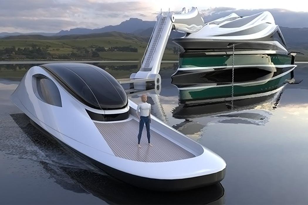 قایق تفریحی مفهومی پایدار طرح قو  - قایق مجزا