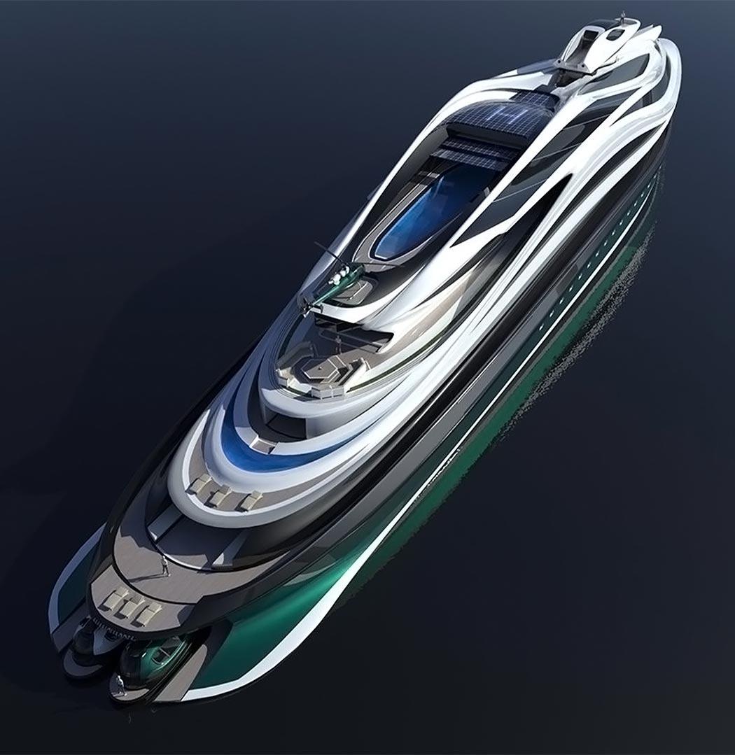 قایق تفریحی مفهومی پایدار - استودیوی طراحی ایتالیایی Lazzarini Design