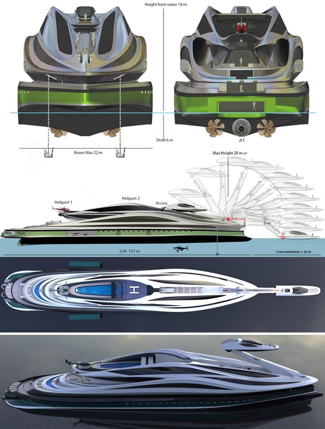 هزینه هنگفت قایق تفریحی مفهومی طرح قو معادل 500 میلیون دلار