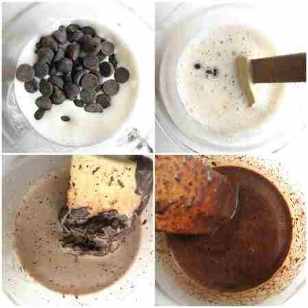 طرز تهیه تزیین خامه شکلاتی - مرحله 1