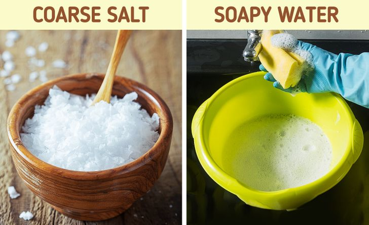 8 ترفند سفید کردن کفش با محصولات خانگی - 4. نمک درشت و آب صابون