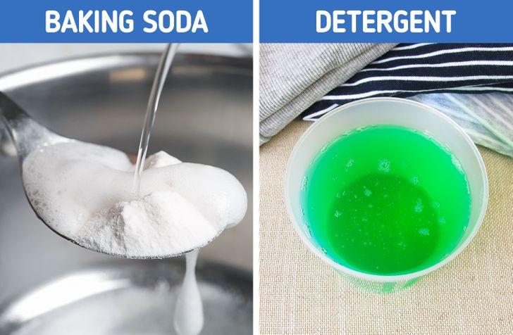6. جوش شیرین و مایع لباسشویی