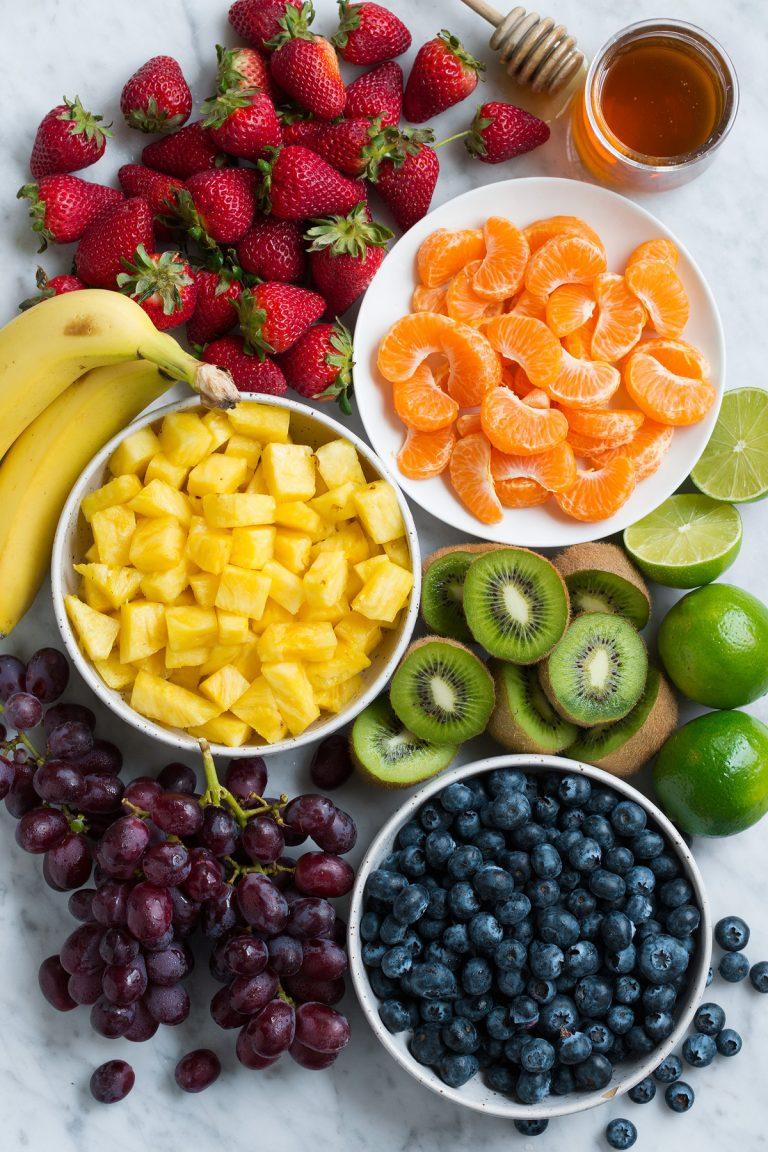 طرز تهیه سالاد میوه رنگین کمان - مرحله 1