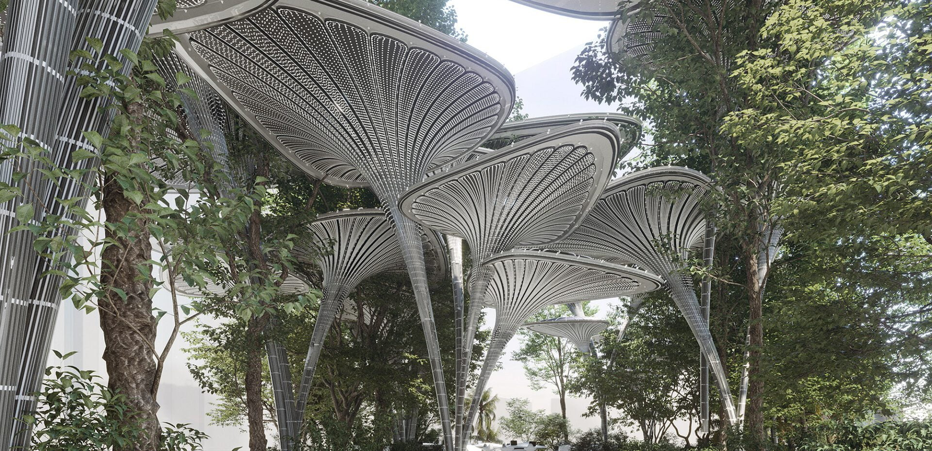 معماری پایدار درخت نخل آینده گرایانه